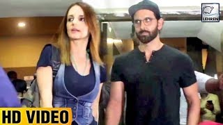 Hrithik Roshan Spotted With Ex-Wife Sussanne Khan | LehrenTV