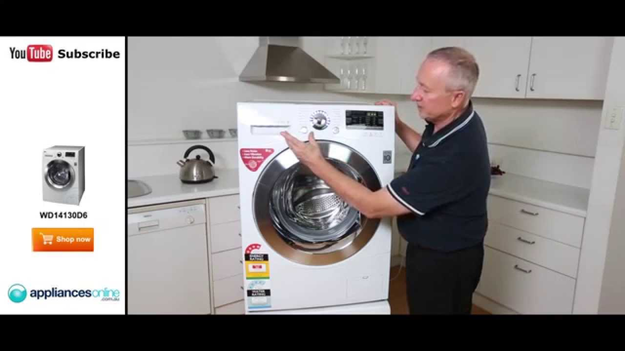 wd14130d6 front load lg 85kg washing machine reviewed by expert appliances online youtube