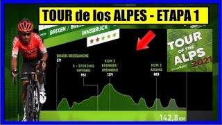 TOUR de los ALPES 2021 🌋 ETAPA 1 💥 con NAIRO Quintana y 14 COLOMBIANOS ✅