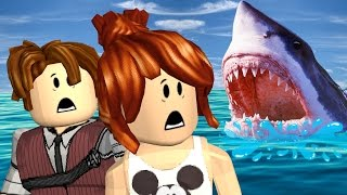 Roblox-ESCAPE the SHARKS with CRIS MINEGIRL