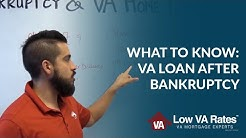 Getting a VA Loan After Bankruptcy: What You Should Know