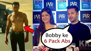 Vatsal Seth And Wife Ishita Dutta On Bobby Deol 6 Pack Abs Body In RACE 3