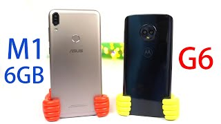 Asus Zenfone Max Pro M1 6gb vs Moto G6 Speed Test, Memory Management test and Benchmark Scores