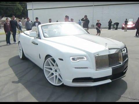 Black White Rolls Royce Dawn W Giovanna Wheels Youtube