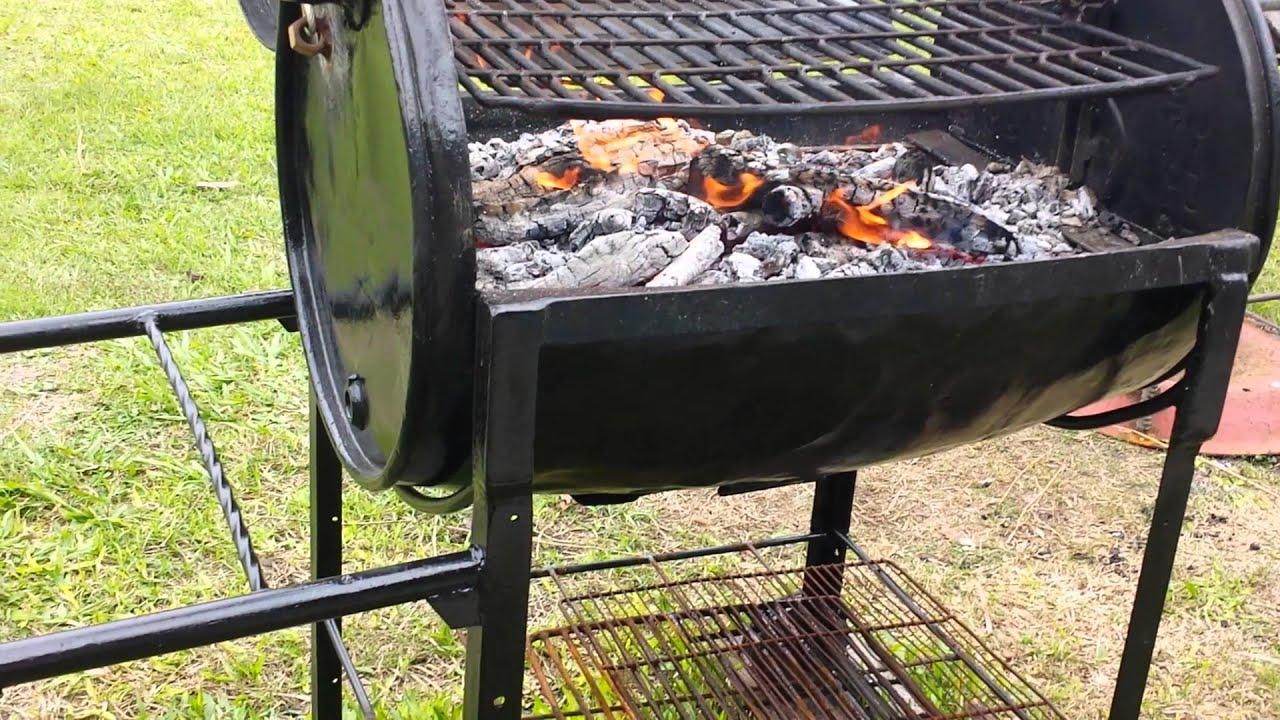 Parrillero de tanque con brasero o quemador independiente for Asadores para carne jardin