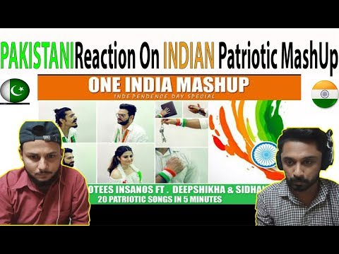 Pakistani Reacts On One India Mashup 20 Patriotic Songs In 5 Min - AA Reactions