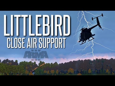 LITTLEBIRD CLOSE AIR SUPPORT - ArmA 3 Helicopter Operation (TrackIR/X52)