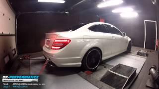Reprogrammation Moteur Mercedes C63 AMG 457hp (Réel 425hp) @ 494hp par BR-Performance
