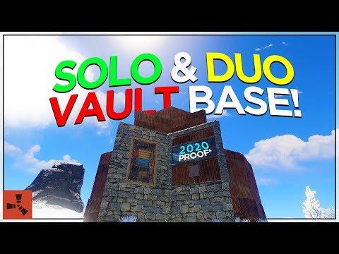 2020 SOLO/DUO VAULT BASE DESIGN! (RUST BASE TUTORIAL #3)