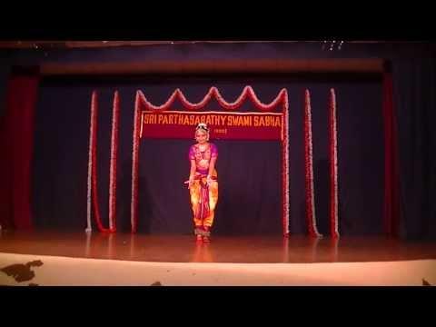 Anushri performance in parthasarathy sabha - chinnan chiru pen pole on 03/03/2013 chennai