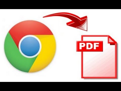 how to convert web to pdf using chrome