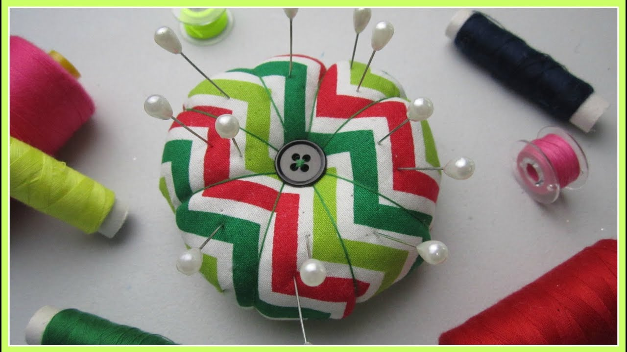 Step By Step Sewing Diy Pin Cushion Youtube
