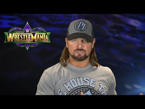 AJ Styles Interview | WWE WrestleMania 2018