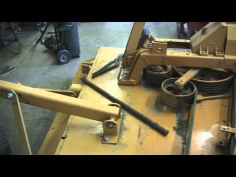 woods mower blade swap 1 - YouTube