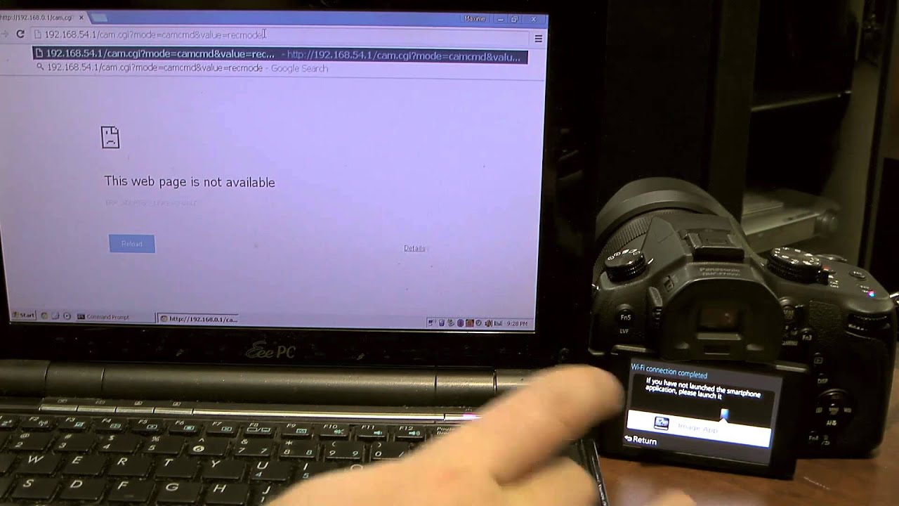 Wifi remote control of lumix camera via PC/Web Browser