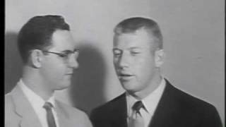 Len Morton talks to Mickey Mantle after MVP & World Series season - 1956.wmv
