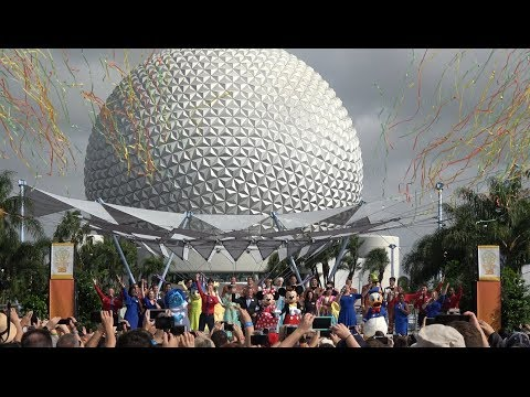 [4K] Epcot 35th Anniversary Celebration Ceremony | 2017