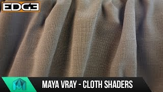 Maya & Vray Tutorial - How to create Cloth Shaders / Advanced material workflows HD