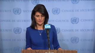 """U.S. is determined to stand up to the UN's anti-Israel bias"" - Nikki Haley"