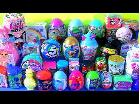 35 SURPRISE EGGS Toys Baby Born Surprise Unicorn Slime LOL