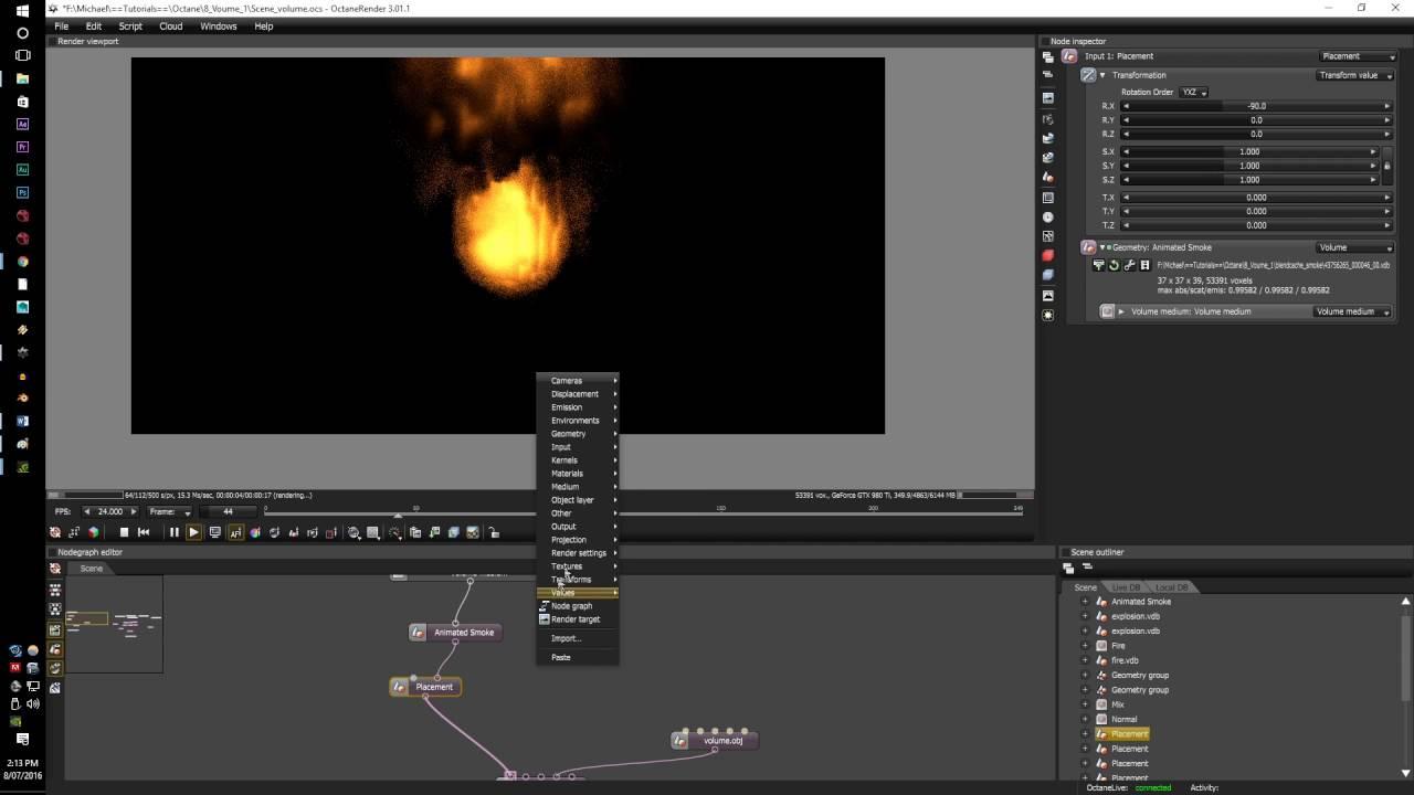 Octane render tutorial series v3: setting up render layers 43.