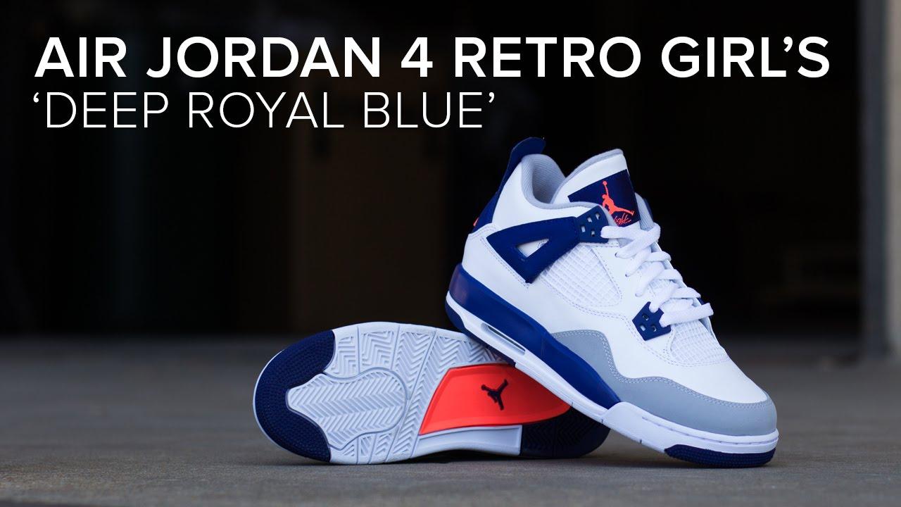 AIR JORDAN 4 GS 'DEEP ROYAL BLUE'