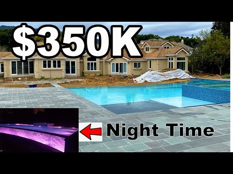$350,000 Infinity Pool Construction Time Lapse (High End Construction)