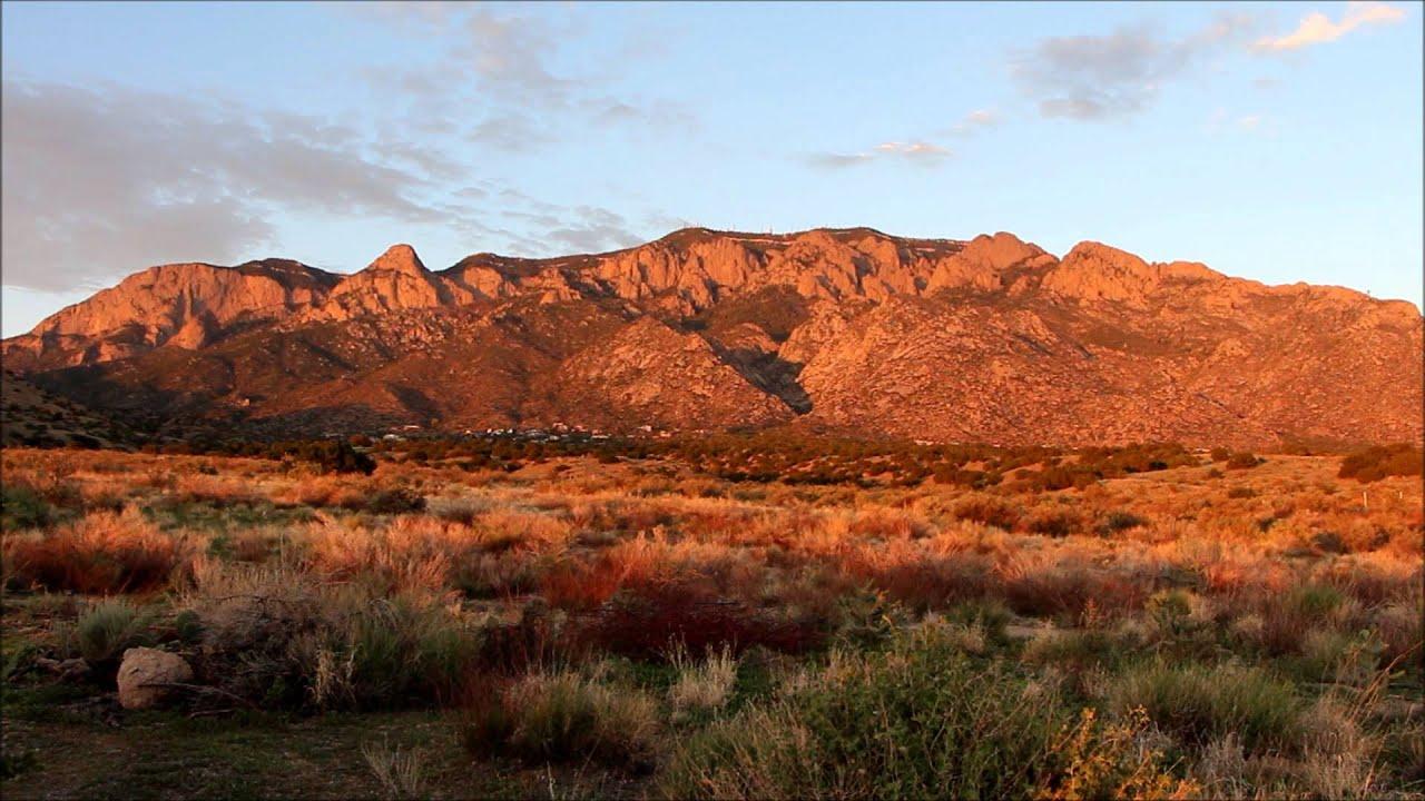 Fall Scenery Hd Wallpaper Sandia Mountains Sunset Youtube