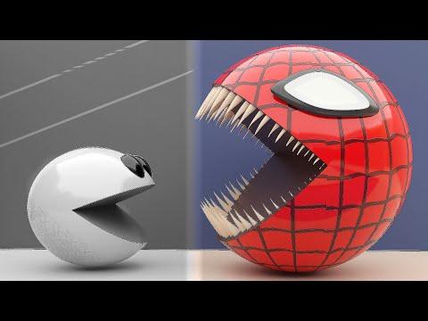 Grey Pacman Vs Color Pacman Race