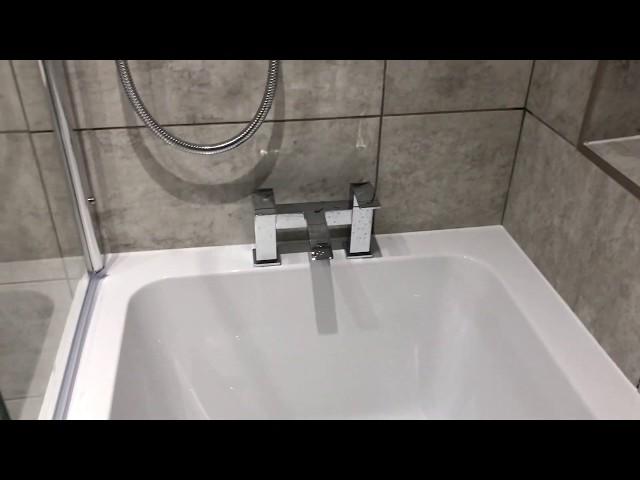 Family Bathroom with L shape bath