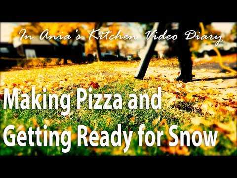 Ania's Video Diary - Making Pizza and Getting Ready for Snow - Daily Vlog