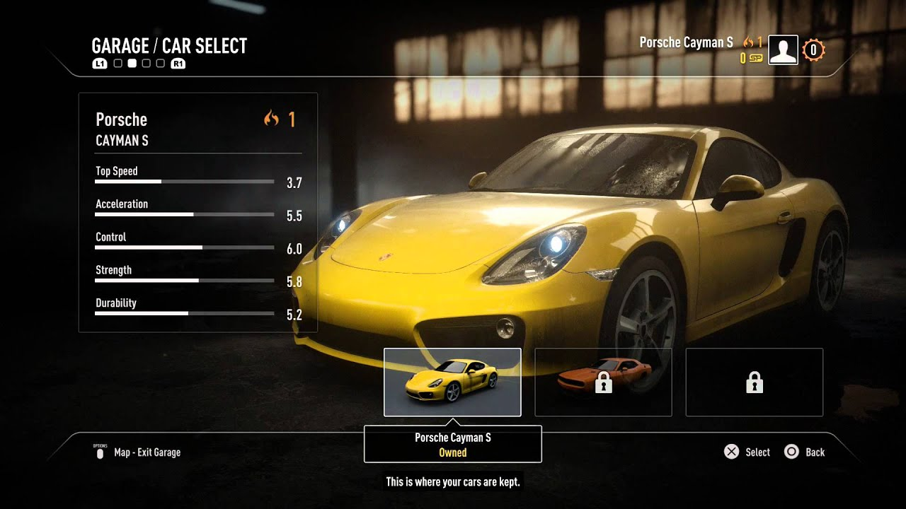 need for speed rivals racer training pursuit tech hideout performance upgrades garage. Black Bedroom Furniture Sets. Home Design Ideas