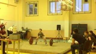 Пауэрлифтинг в 10 лет. Ращупкин Женя. Тяга 90 кг.