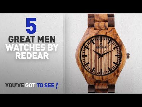 Top 10 Redear Men Watches [ Winter 2018 ]: REDEAR Mens Handmade Wooden Wrist Watch Quartz Bamboo