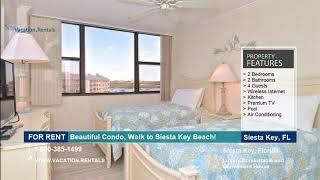 Florida | Vacation Rentals | Beautiful Condo, Walk to Siesta Key Beach! - 4 Guests  | Siesta Key