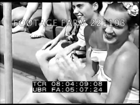 1948 American Olympic Swim Team Display 221103-01 | Footage Farm