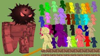 Minecraft but Boss Virus (40 minecraft steve run Escape )Survival Race in Algodoo marble race