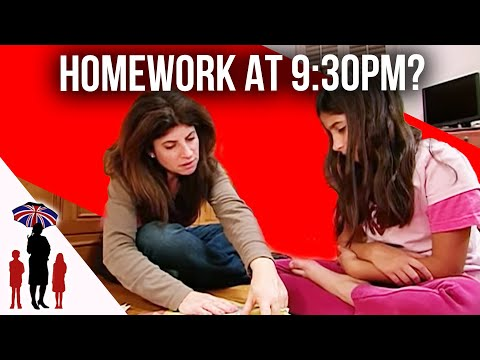 Kids Still Doing Homework Way Past Bedtime | Supernanny