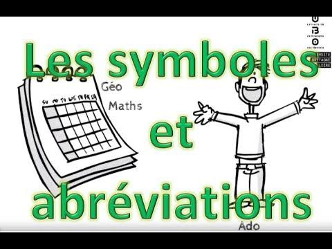 Les symboles et les abréviations (Prise de notes)