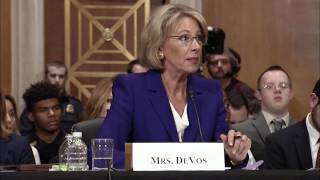 Education Secretary Betsy DeVos is a