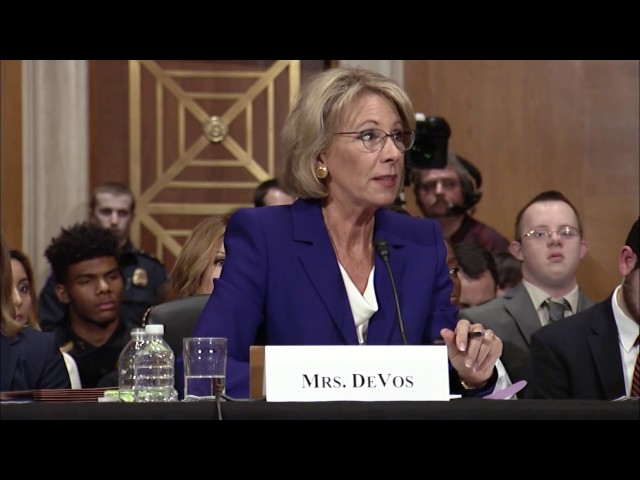 Senator Murphy Questions Betsy DeVos during Education Secretary Hearing