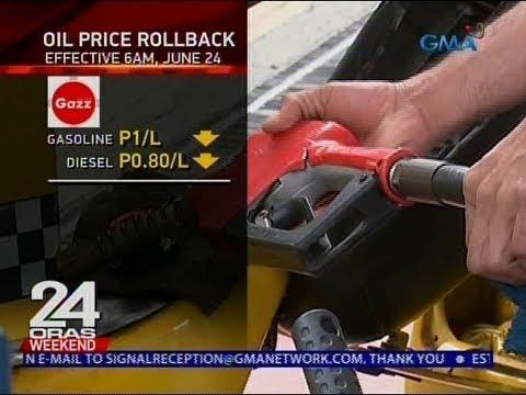 24 Oras: Oil price rollback (June 24, 6AM)