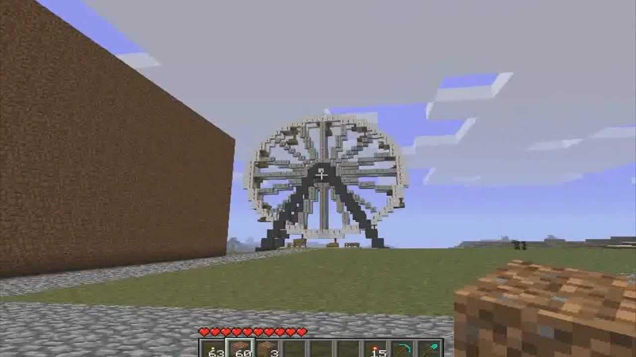 Minecraft : Ferris Wheel : Realistic Amusement Park Builds ...  Minecraft : Fer...