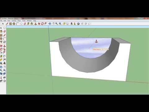 Google Sketchup: How To Make A Halfpipe