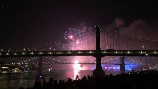 Macy's Fourth of July fireworks light up the Brooklyn Bridge 2019