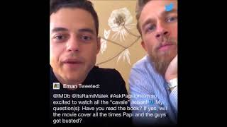Charlie Hunnam Rami Malek - Papillon movie Q & A