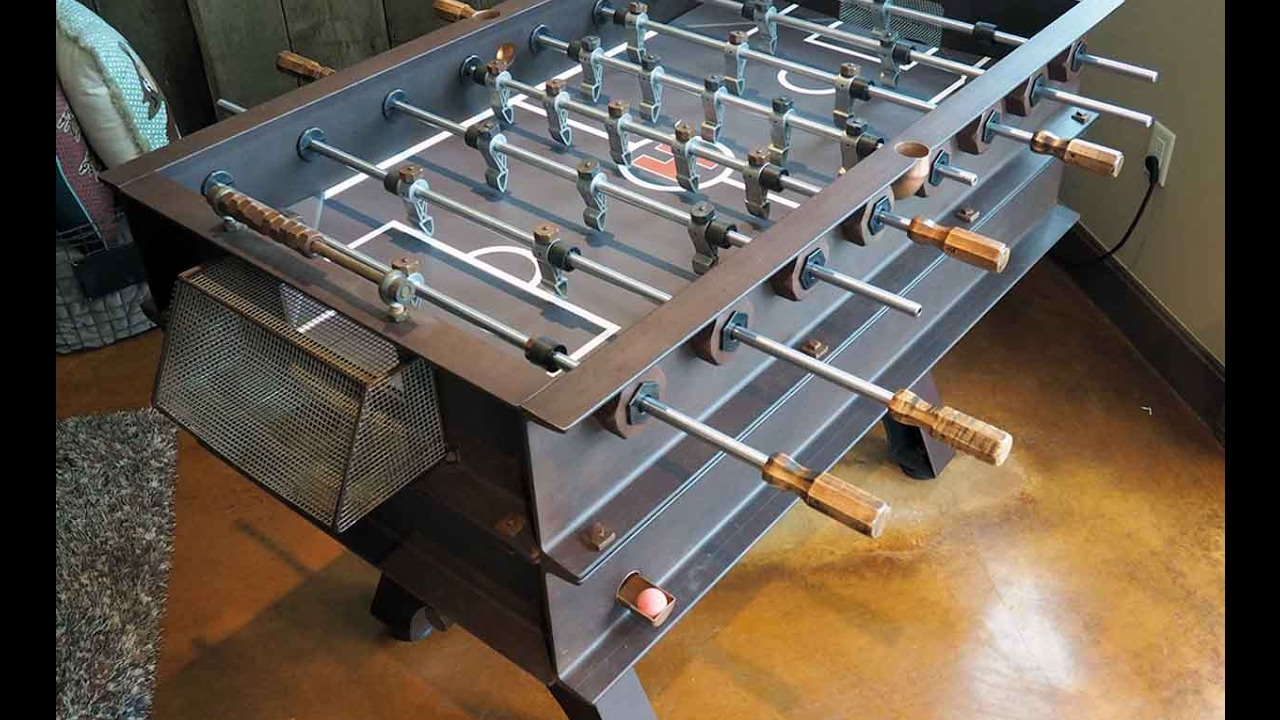 Custom Steel Foosball Table YouTube - Custom foosball table