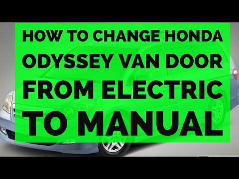 Honda Odyssey Sliding Door Hinge Replacement Repair 05 - 10 Electric To Manual
