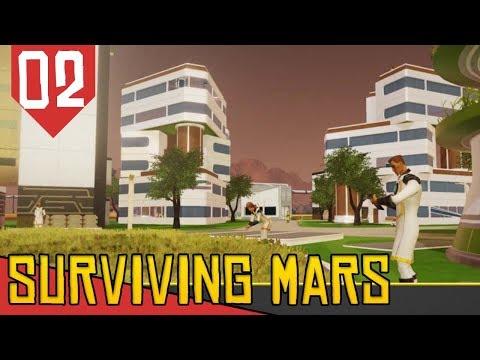 Primeiros Colonos! Segundo Domo! - Surviving Mars #02 [Série Gameplay Português PT-BR]