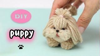 🐶Diy Puppy Yarn Pom Pom🧶🐕The Cutest Little Dog Easy Making🌟스레드에서 가장 귀여운 작은 개